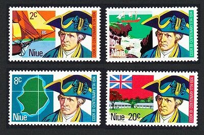 Niue Bicentenary of Captain Cook's Voyage 4v SG#182/85 SC#163-66