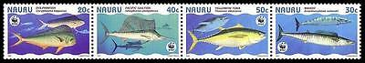 Nauru WWF Giant Fishes Strip of 4v SG#458/61 SC#443 a-d MI#437-40