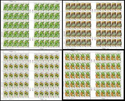 Niuafo'Ou WWF Blue crowned Lorikeet 4 Full Sheets 50 sets SG#270/72 SC#202-05