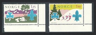 Norway World Scout Jamboree Lillehammer 2v Bottom Right Corners SG#739/40