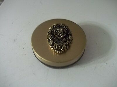 Vintage Estate Find Faux Tortoise Collapsible Cup / Pill Box Compact Estate Find