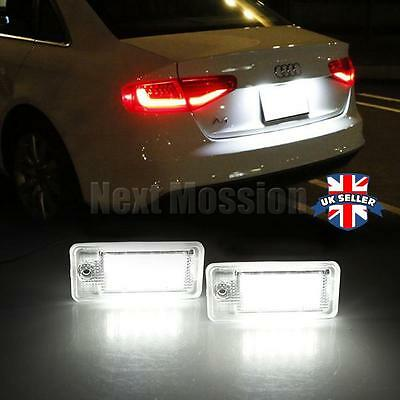 2X 18-LED License Number Plate Light Lamp for Audi A6 C6 S6 A4 S4 B6 B7 A8 S8 Q7