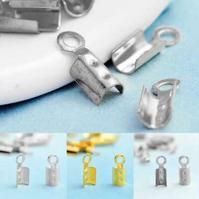20g Crimp Beads Cord End Tips DIY Jewelry Findings Terminators 3 Sizes&Colors