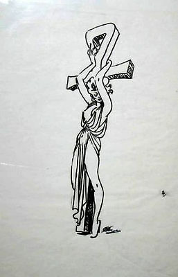 Kelly Freas Drawing Woman On The Cross #2