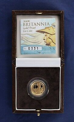 2006 Gold Proof 1/10oz £10 Britannia coin in Case with COA   (Y10/10)