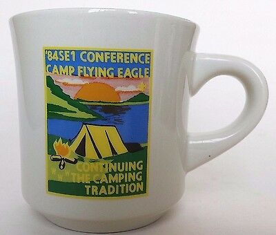 1984 BSA Mug Camp Flying Eagle Camping Conference SE1 Boy Scout Coffee Cup 1