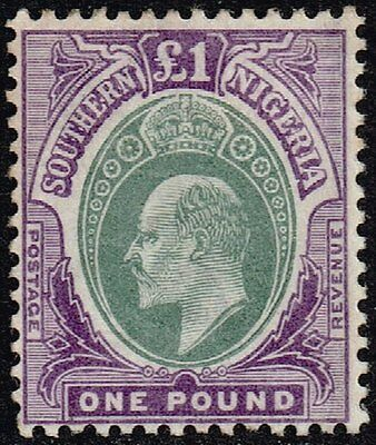 Southern Nigeria 1903-04 £1 green & violet, MH (SG#20)