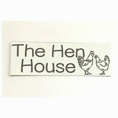 The Hen House Chicken Sign Plaque or Hanging For Coop Wall Plaque House Country