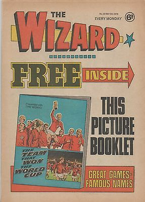 The Wizard - No 13 - 1970 - 1966 WORLD CUP BOOKLET  FREE GIFT!!!! RARE