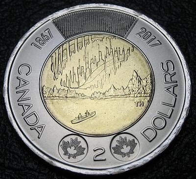 2017 - $2 - 150th Anniv. of Canada - Normal - BU - From A New Roll ( One Coin )