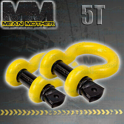 2X 4x4 4WD RECOVERY BOW SHACKLE TOW WINCH SNATCH 5 TONNE MEAN MOTHER 19x22 MM512