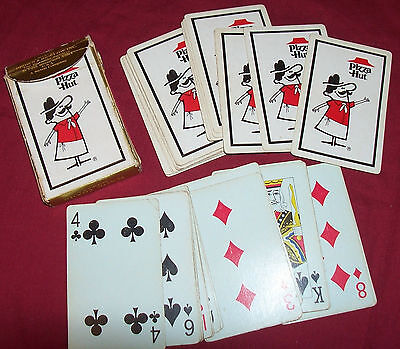 Old Pizza Hut Playing Cards Poker Vintage Advertising Promo Giveaway Collector