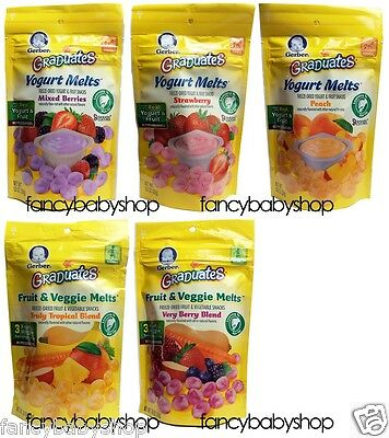 Gerber Graduates Yogurt Melts Snacks 1 oz (Lot of 1 pack), You Choose the Flavor