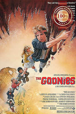 NEW THE GOONIES HANGING FROM CAVE CHARACTERS 80s MOVIE ART PRINT PREMIUM POSTER