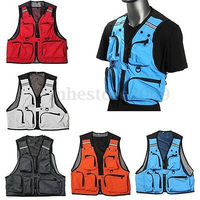 1 Multi-Pocket Outdoor Fishing Vest Photography Waistcoat Hiking Hunting Jackete