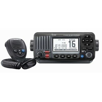 IC-M424G 21 - Icom M424G Fixed Mount VHF Marine Transceiver w/Built-In GPS - Bla
