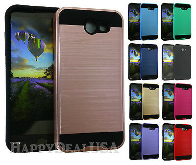 Armor Shock Proof Brushed Hybrid TPU Cover Case for Samsung Galaxy J3 Emerge