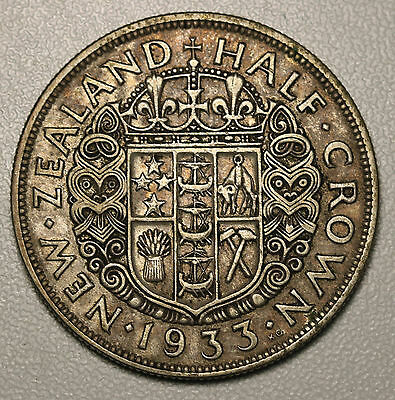 1933 New Zealand Silver Halfcrown KM# 5  George V Coin