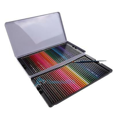 Watercolour pencils tin 72X Water Color Soluble Non-toxic Art Drawing&Painting