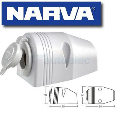 Narva Cigarette Lighter Socket Surface Mount 12V Dc Adapter  Caravan 81025Wbl