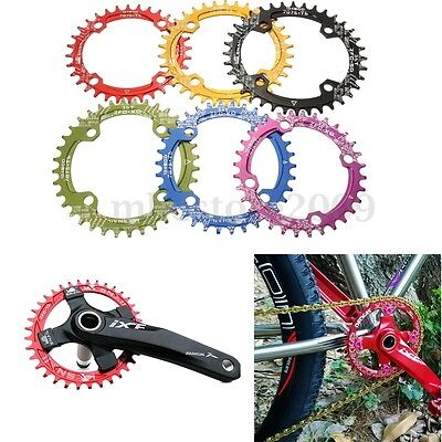Chainring Oval Circle 32 34 36 38T BCD104mm MTB Bicycle Narrow Wide Single Speed