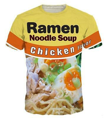 New Fashion Womens/Mens Noodle Soup Funny 3D Print Casual T-Shirt USJ74
