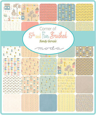 Patchwork/quilting Fabric Moda Charm Squares/packs -Corner Of Fith And Fun