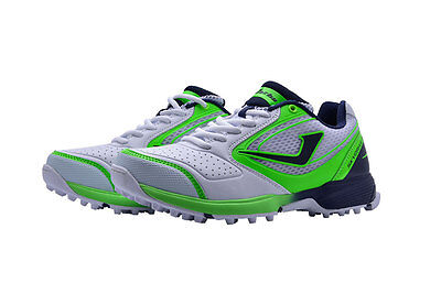 Jazba SkyDrive 100 Green & White Mens Rubber Sole Cricket Shoes