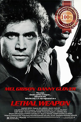 New Lethal Weapon Mel Gibson Danny Glover Classic Movie Art Print Premium Poster