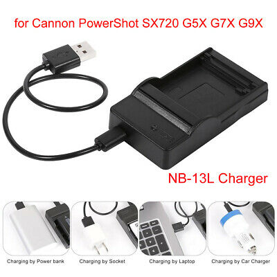 NB 13L Camera Battery Charger for Canon PowerShot G7 X Mark II G7X SX720 AF