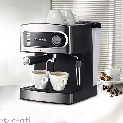 Premium Espresso Latte Cappuccino Coffee Machine Hot Drink Maker 15Bar Pump 1.6L