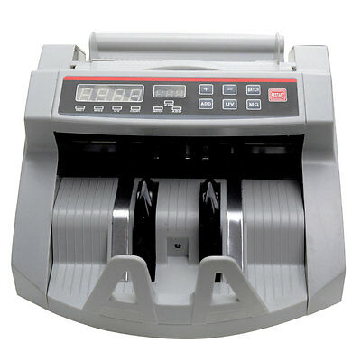 Money Counter World Currency Bill Cash Counting Machine UV MG Counterfeit US