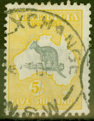 Australia 1915 5s Grey & Pale Yellow SG42c Fine Used
