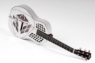 RESONATOR GUITAR JOHNSON JM-999-E chrome Tricone +Pickup 2.Wahl (VP
