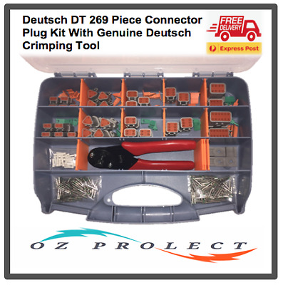 Deutsch DT Connector Plug Kit 269 pc Automotive Marine Camping With Crimp Tool