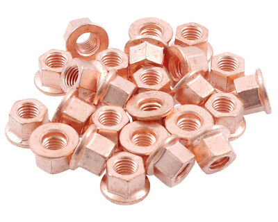 25 pieces Nuts copper M10x1,5 SW15 turbocharger exhaust system Aupuff elbow