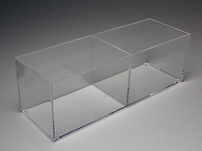 """DISPLAY CASE CLEAR ACRYLIC CUBE CASE 7"""" x 2.4"""" x 2.4"""" MADE IN JAPAN"""
