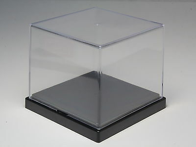 "DISPLAY CASE CLEAR ACRYLIC COLLECTION BOX 3.7""x3.7""x3.2"" MADE IN JAPAN"
