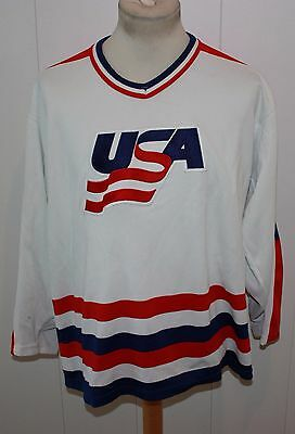 Vintage Ccm Trikot Nhl Team Usa Eishockey Olympics  L  Made In Usa