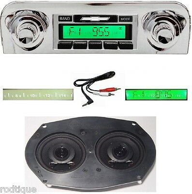 1959-1960 Impala & Bel Air Stereo Radio + Dash Speaker + Free AUX Cable  230D