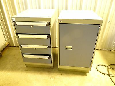Heavy Duty Rouseau 4 Drawer 1 Door Cabinet Tooling Storage Under Bench Cabinets