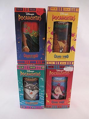 Disney's Pocahontas ~Set of 4 Plastic Glasses ~ Coke ~ Burger King