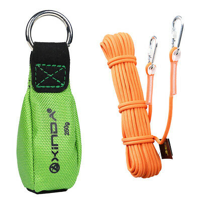 """65.6' 0.37"""" Climbing Auxiliary Rope + 8.8oz Tree Rigging Green Throw Weight"""