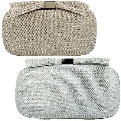 73069 73070 Ladies Ella Clutch Bag Gold Silver Colors Chain Clasp Fastening