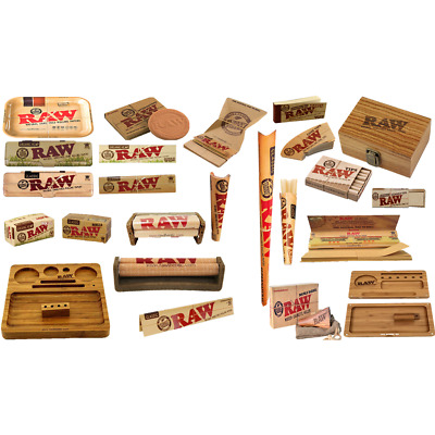 Raw King Size Slim Rolling Papers Organic Cones Raw Tips Mat Tray Smoking offers