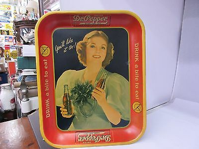 Vintage 1930's Dr. Pepper Tray      G-273