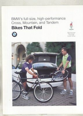 1996 BMW Olympics Cross Mountain Tandem Bicycle Brochure d0872