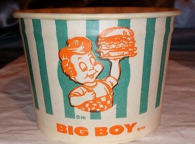 5 -Old 1950s-60s BIG BOY Ice CREAM BOWL CUPS Continental Waxed NOS Soda Fountain