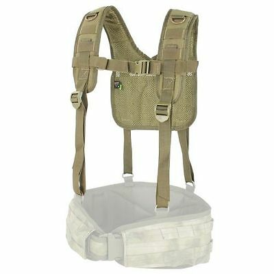 Condor Military H-Harness with Suspender Supports Battle Belt ( Tan ) #215