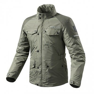 REV'IT FRC011 Olive Rain Jacket Quartz H2O Size X-Large